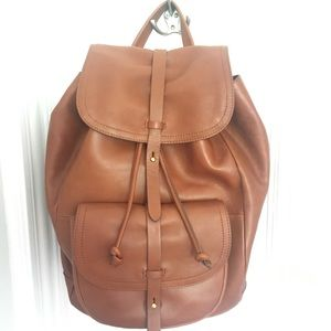 Madewell Transport Rucksack Backpack Cognac leathe